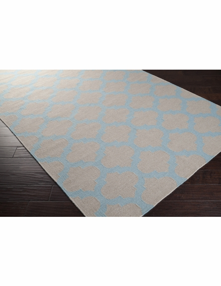 Blue Haze and Oatmeal Trellis Frontier Rug