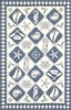 Blue Ivory Nautical Panel Rug