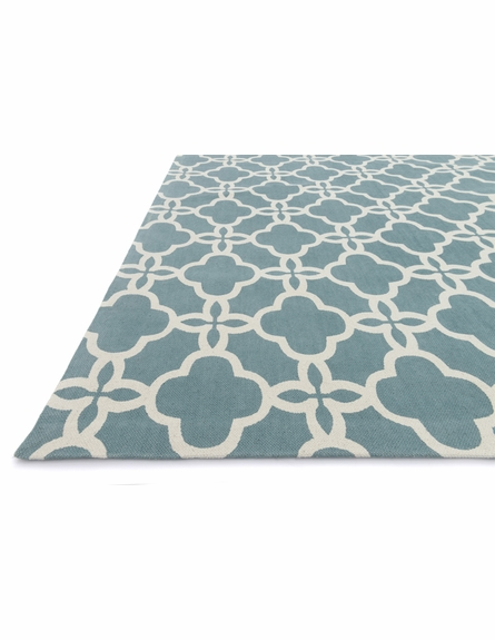 Blue Lattice Geo Rug