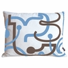 Blue Letters Pillow
