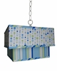 Blue Line Dot Mix Double Square Pendant