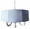 Blue Linen Drum Chandelier