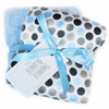 Blue Mod Dot Satin Burp Cloth