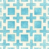 Blue Modern Symmetry Canvas Reproduction