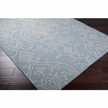 Blue Ornate Rain Rug