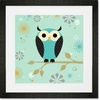 Blue Owl on a Branch Framed Art Print