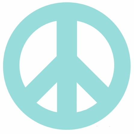 Blue Peace Sign and Polka Dots Wall Sticker