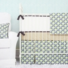 Blue Peacock Crib Bedding Set