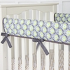 Blue Peacock Crib Rail Cover