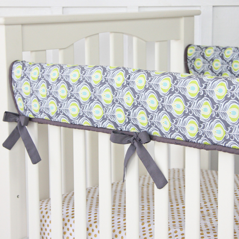 This item peacock 3pc baby crib bedding set by bananafish pictures to