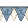 Blue Pirates Pennant Border