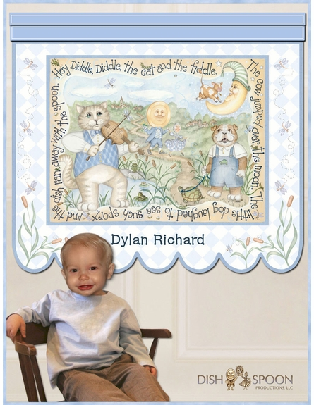 Blue Playful Cast Canvas Reproduction