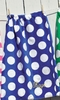 Blue Polka Dot Towel Wrap
