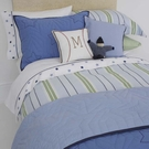 Blue Preppy Stripe Twin Duvet Cover