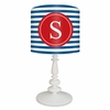 Blue & Red Striped Monogram Lamp