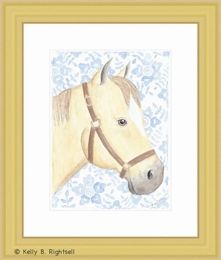 Blue Ribbon Framed Lithograph