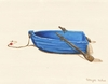 Blue Rowboat Canvas Wall Art
