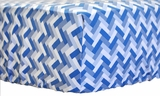 Blue Stone Zig Zag Crib Sheet $(+56.00)
