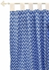 Blue Stone Zig Zag Curtain Panels - Set of 2