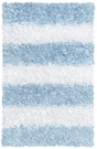 Blue Stripes Shaggy Raggy Rug
