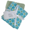 Blue Tile Burp Cloth Set