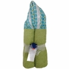 Blue Tile Hooded Towel