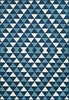 Blue Triangles Baja Rug