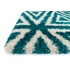 Blue Triangles Cosma Shag Rug