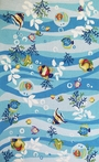 Blue Tropical Fish Rug