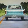Blue Truck Canvas Reproduction