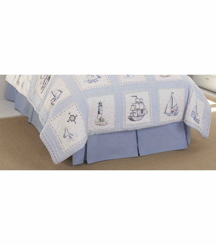 Blue Twin Bed Skirt