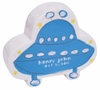Blue UFO on White Coin Bank