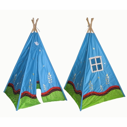 Blue Window Teepee