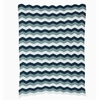 Blue Zag Knit Kids Throw Blanket