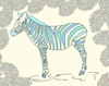 Blue Zebra Canvas Wall Art