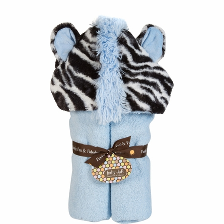 Blue Zebra Deluxe Toddler Hooded Towel