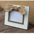 Blue Zebra Picture Frame with Bow