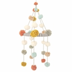 Blush and Dijon Pom Pom Mobile