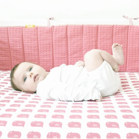 Blush Bird Fitted Organic Crib Sheet