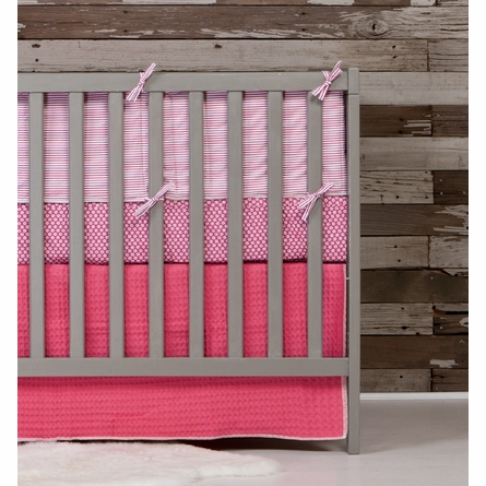 Blush Flower Fitted Organic Crib Sheet