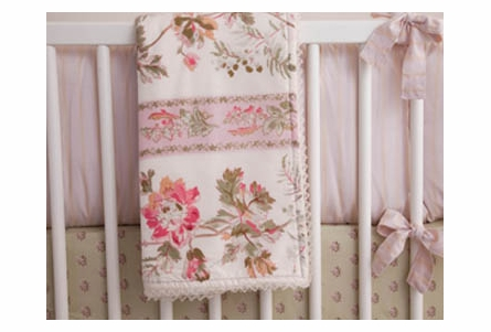 Blush Hortense Crib Bedding - 3 Piece Set