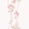 Blush Large Floral Stripe Wallpaper