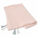 Blush Pointelle Blanket