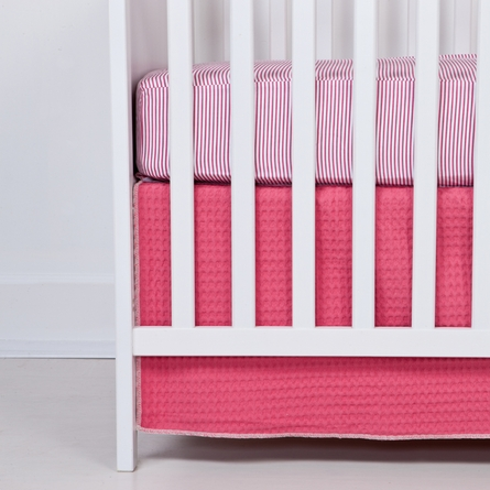 On Sale Blush Stripe Fitted Organic Crib Sheet