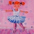 Blushing Pink Ballerina Hand Painted Canvas