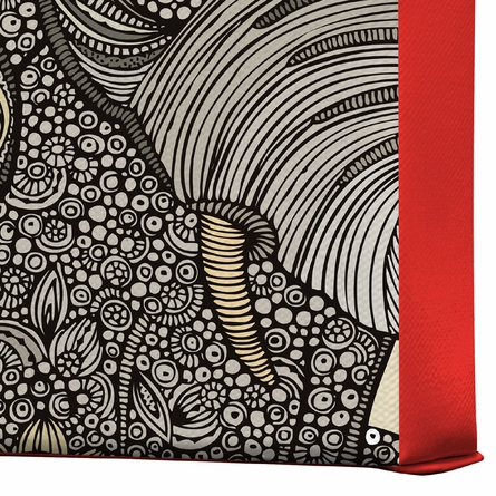 Bo the Elephant Wrapped Canvas Art
