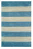Boardwalk Stripes in Blue and Ivory Rug