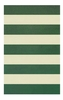 Boardwalk Stripes in Emerald and Ivory Rug