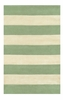 Boardwalk Stripes in Seafoam and Ivory Rug