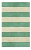 Boardwalk Stripes in Teal and Ivory Rug
